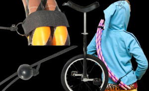 hula hoop i monocykl