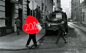 Walentynki serce 20 procent