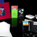 iluzja karty, mata, flash paper i portfel