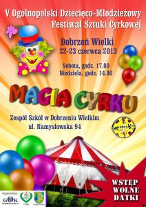 plakat V Dziecieco-Młodzieżowy Festiwal Sztuki Cyrkowej