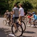 rajd rowerowy i monocykle