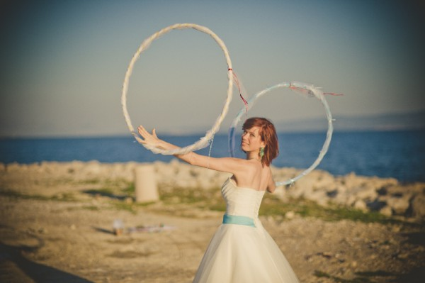 wedding decoration hula-hoop