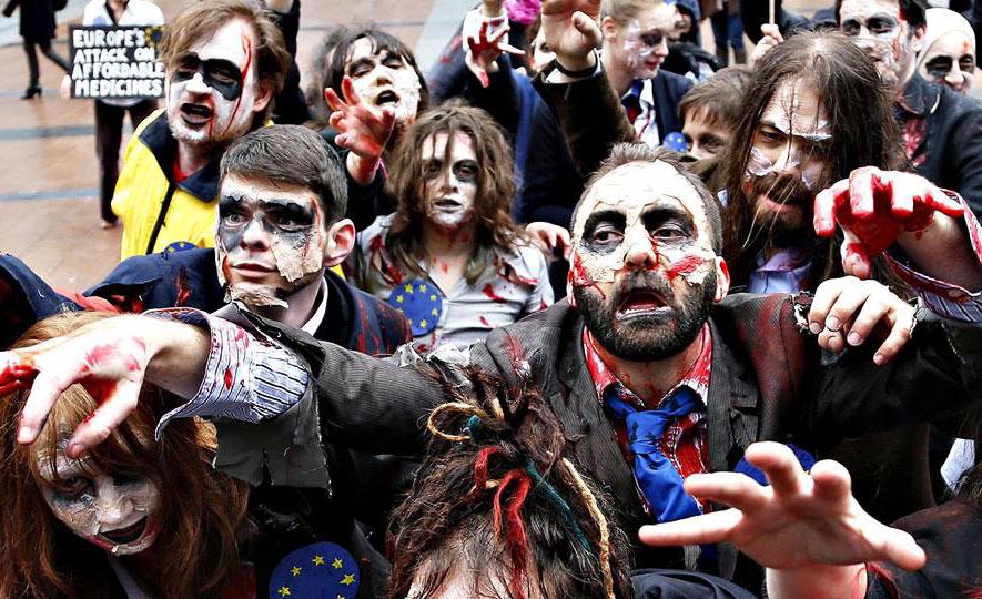 zombie walk wrocław