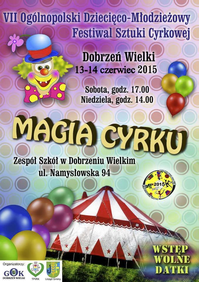 Festiwal cyrkowy dla dzieci i młodzieży w Dobrzeniu Wielkim