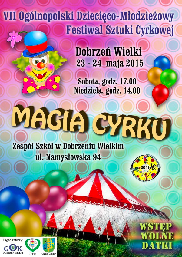 Festiwal młodego cyrku w Dobrzeniu Wielkim
