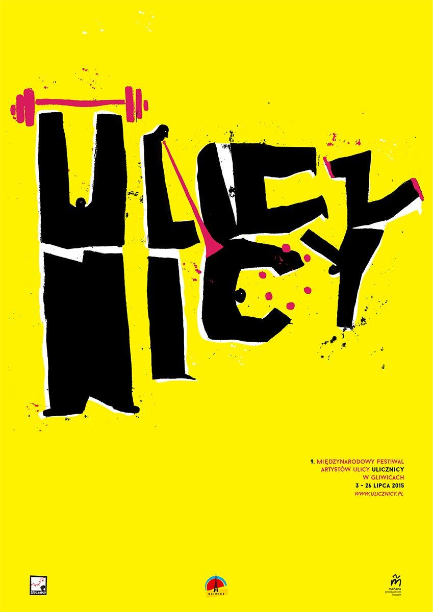 Plakat 9 edycji festiwalu Ulicznicy.
