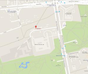 Mapa WOSK i Slackline Warszawa
