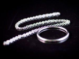 pierścień na łańcuszku