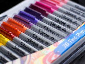 zestaw mazaków sharpie 28 kolorów
