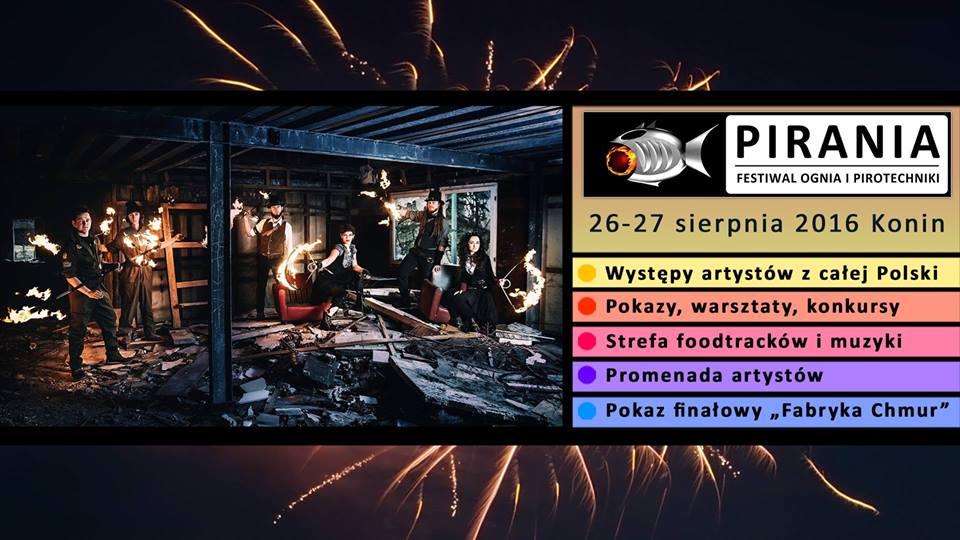 pirania festiwal ognia i pirotechniki Konin