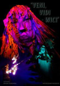 "WIDOWISKO PLENEROWE ""VENI, VIDI -WICI"" - giant puppet &fireshow @ MCK PŁOŃSK |  |  |"