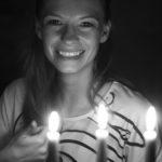 kuglarze przy świecy