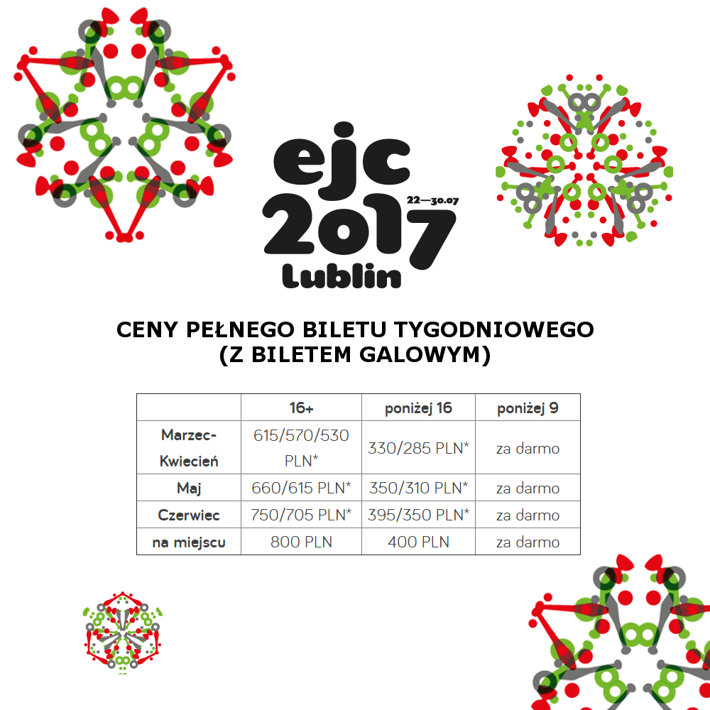 EJC 2017 Lublin bilety