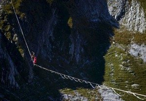 Highline Extreme 2015 foto: Denis Balibouse:Reuters